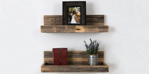 chic styles for floating shelves