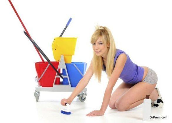 Always clean the floor