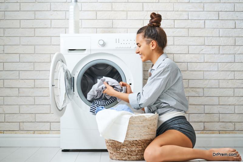 woman handling the machine