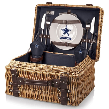 Dallas Cowboys Champion Picnic Basket For Two HometoOutdoors - Dallas cowboys picnic table