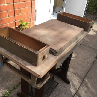 Sanding the singer treadle table