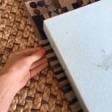 Making a foam bench cushion cover