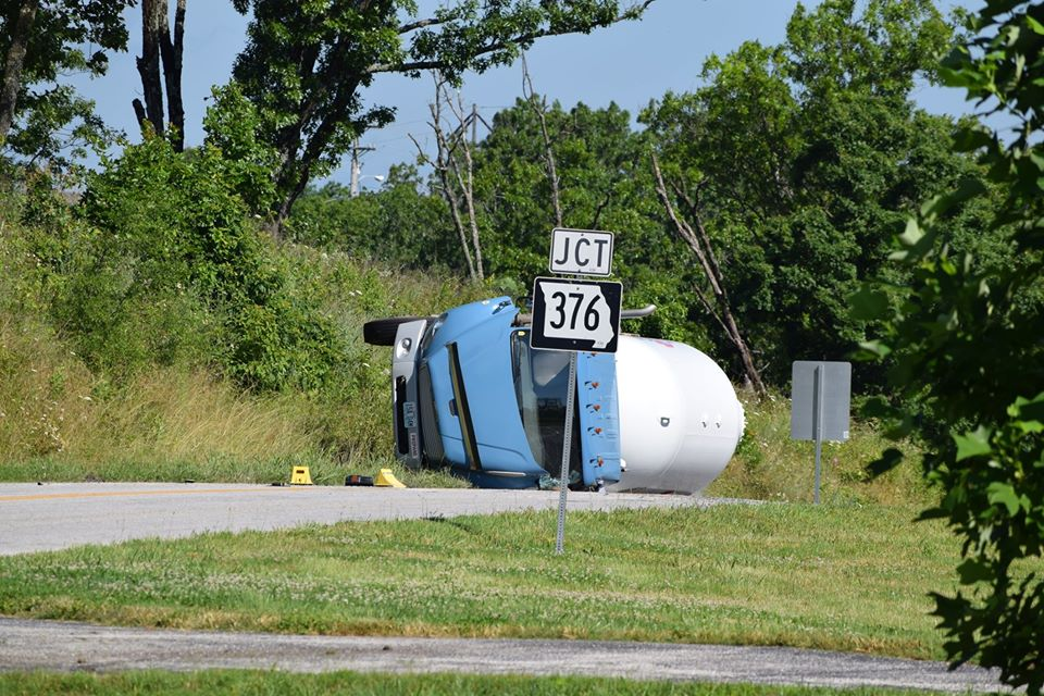 Overturned Fuel Truck