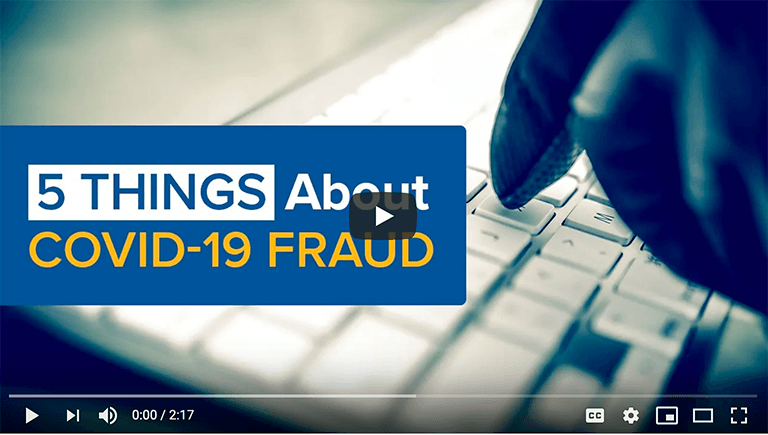 Fraud Alert!  Scammers and COVID-19