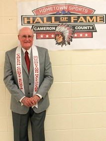 Picture of Coach Thompson by Hall of Fame Banner