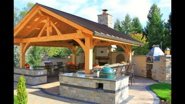 Rustic Style Outdoor Kitchen 1