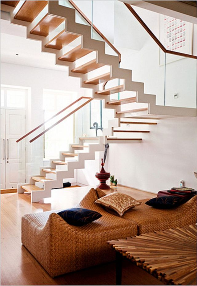 Modern Rustic Stair Design Ideas for Your Minimalist Home 4
