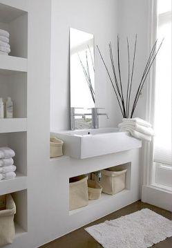 Extraordinary White Bathroom Ideas 107