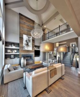 50 ++ Amazing Living Room Designs With Floating Shelves 169