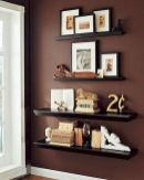 50 ++ Amazing Living Room Designs With Floating Shelves 4