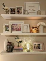50 ++ Amazing Living Room Designs With Floating Shelves 83