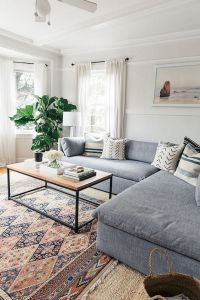 Modern Living Room Ideas With Grey Coloring 76