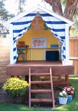 Awesome Playhouse Plan Into Your Existing Backyard Space