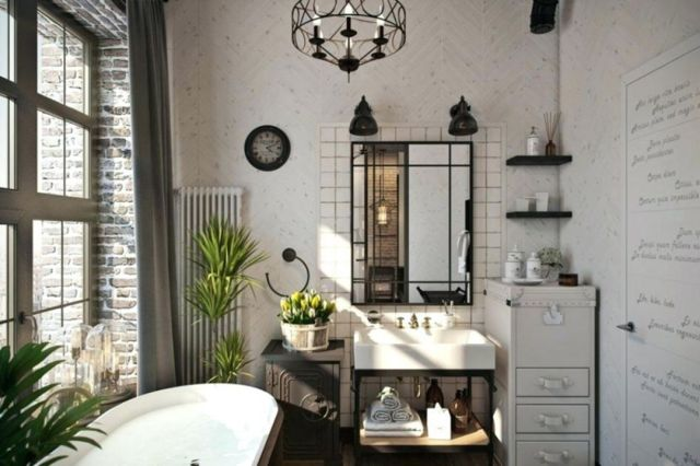 Bathroom Industrial Style Apartment 4