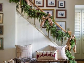 Brilliant Christmas Garland Decorating Ideas 191