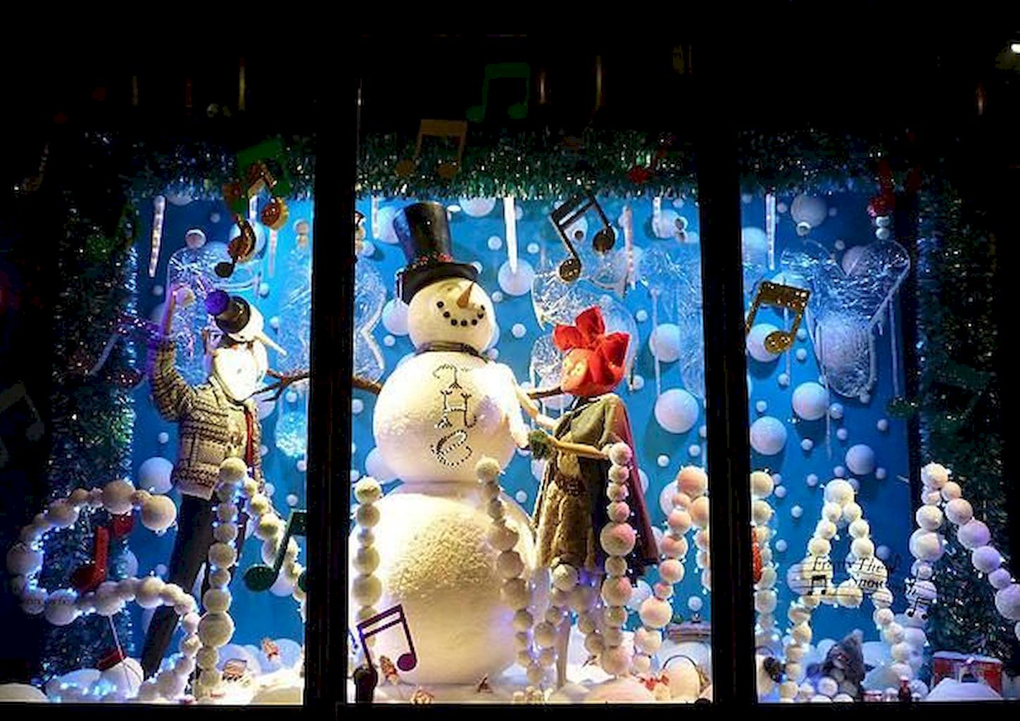 Christmas Village Window Display Ideas