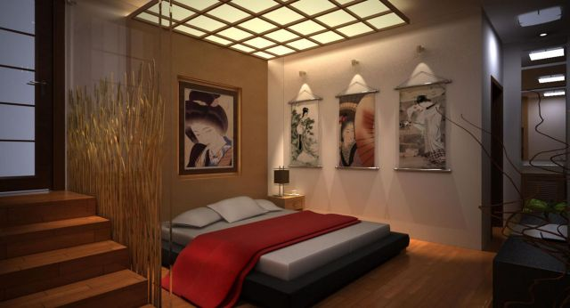 Decorating Ideas Modern Japanese style bedrooms 4