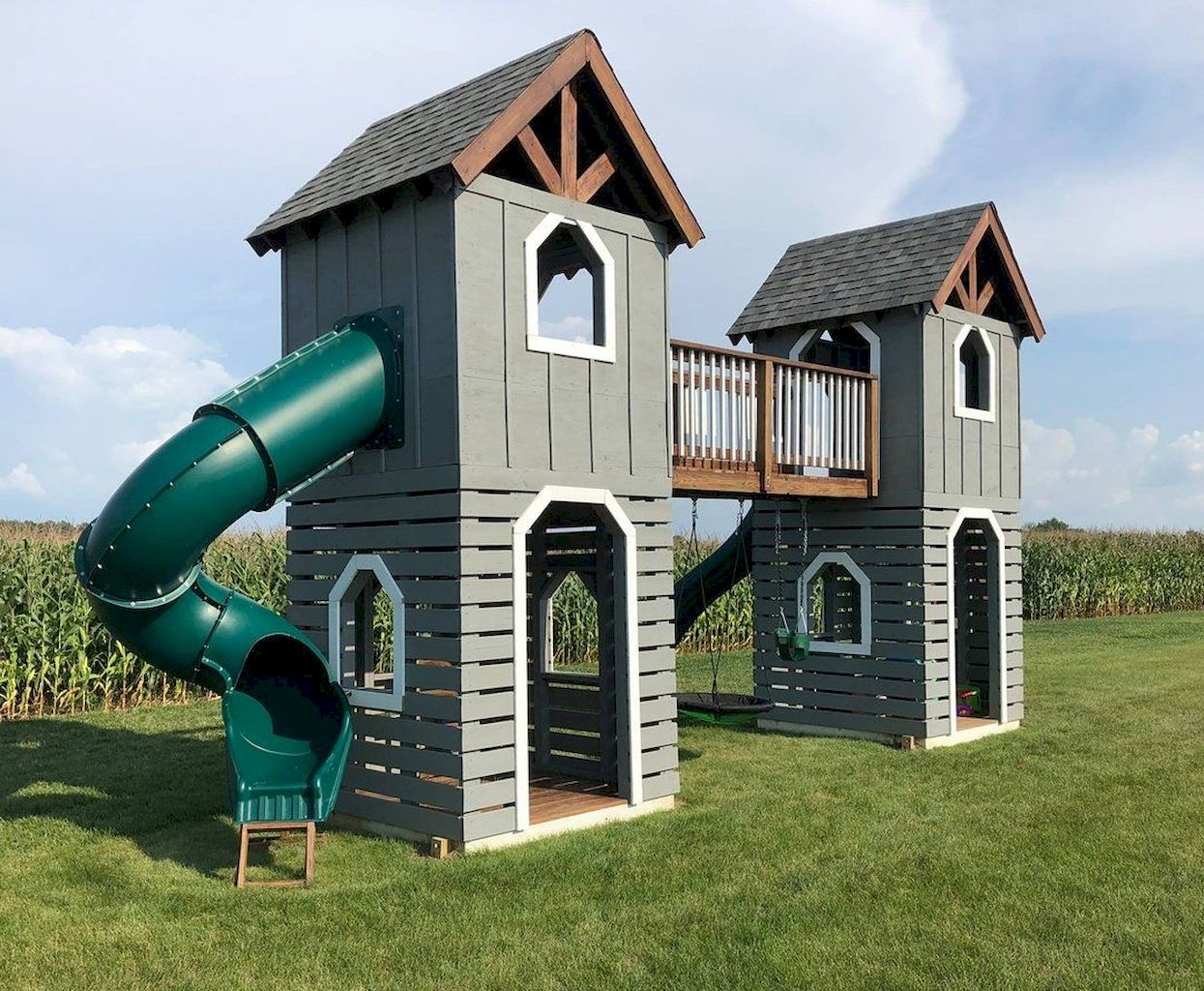 Glorious Playhouse Plan Into Your Existing Backyard Space