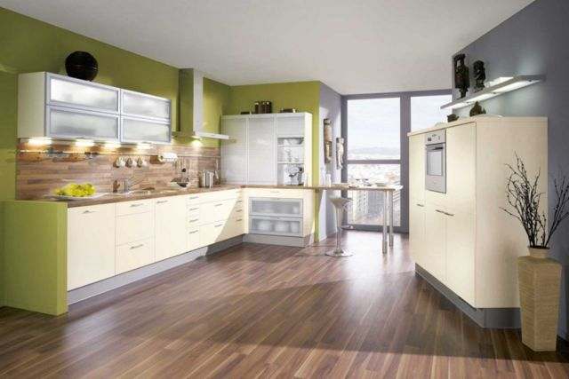 Ideas for Wall Paint Color Combination in the Kitchen 4