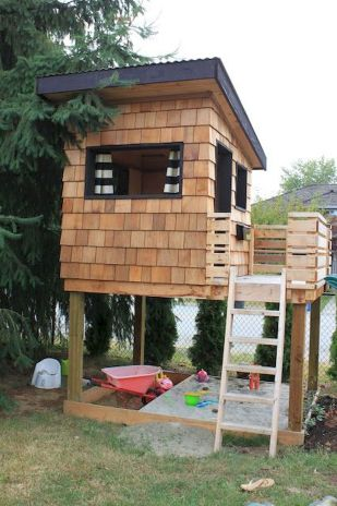 Surprising Playhouse Plan Into Your Existing Backyard Space