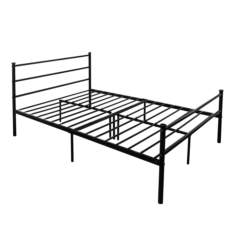 metal frame sofa bed sleek design single in black with side rail home