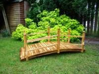 Terrific Option For Wooden Garden Bridges  hometyler