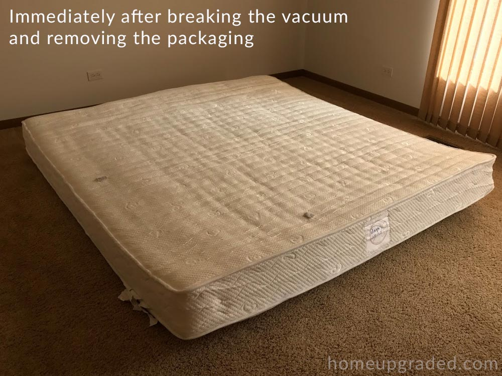 at this point the mattress should be left undisturbed for 48 hours so it can slowly take its final form