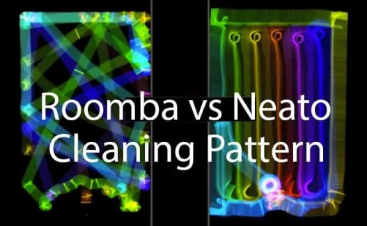 neato vs roomba cleaning pattern