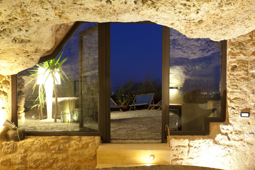 Cave House Sicily Italy view