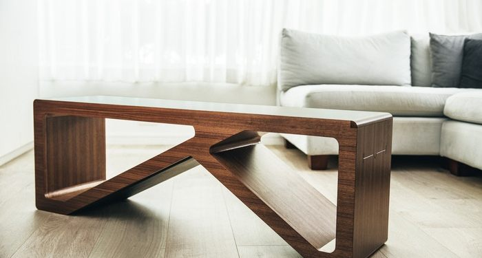 Brilliant The Wood Coffee Table That Doubles As A Workout Bench Home Theyellowbook Wood Chair Design Ideas Theyellowbookinfo