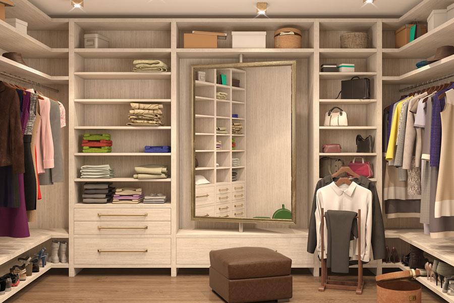 Custom luxury closet