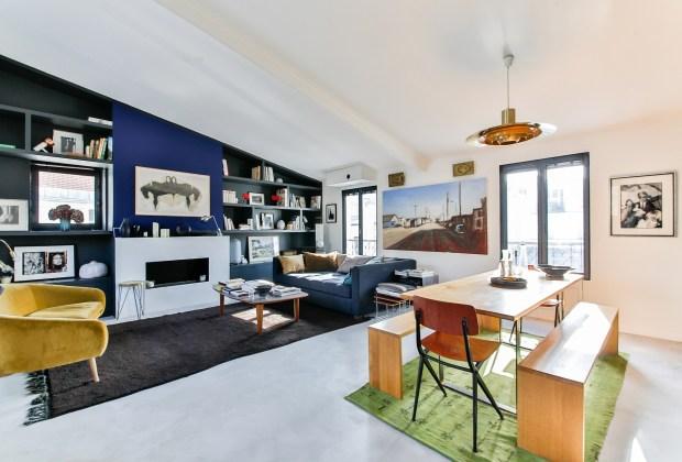 open floor plan contemporary home