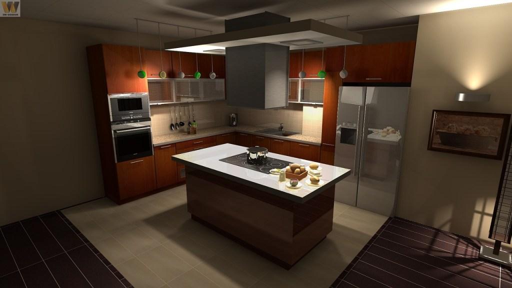 spacious kitchen open floor space