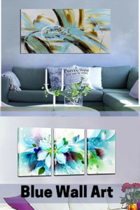 Blue Wall Art - Blue Home Wall Art Decor