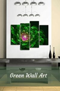 green wall art - green home art wall decor