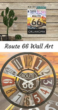 Get your Home Decor Kicks with Route 66 Wall Art