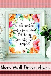 Floral Mom Wall Decor - Mom wall art