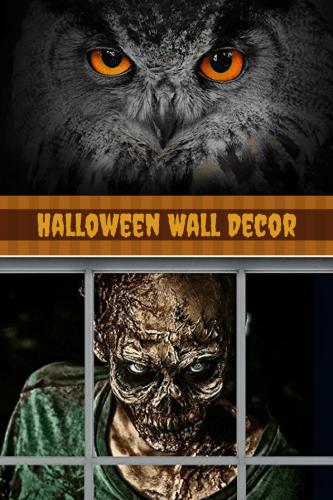 Halloween Wall Decor - unique halloween home decor - halloween home wall art decor
