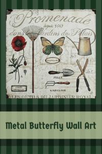 Metal Butterfly Wall Art - Metal Butterfly Home Wall Art Decor