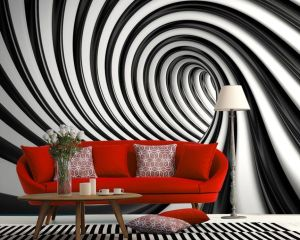 wall mural swirl abstract murals walls homewallmurals background tunnel paper 183cm wallpapers twisted dots bedroom decor 2347