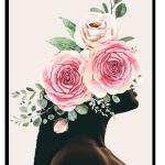 Floral woman wall art