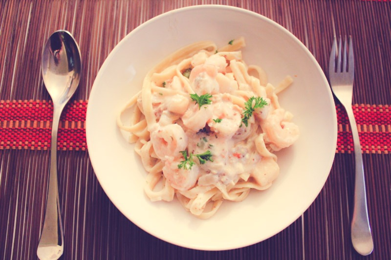 30 Minute Creamy Seafood Pasta