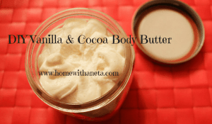 DIY vanilla & cocoa body butter