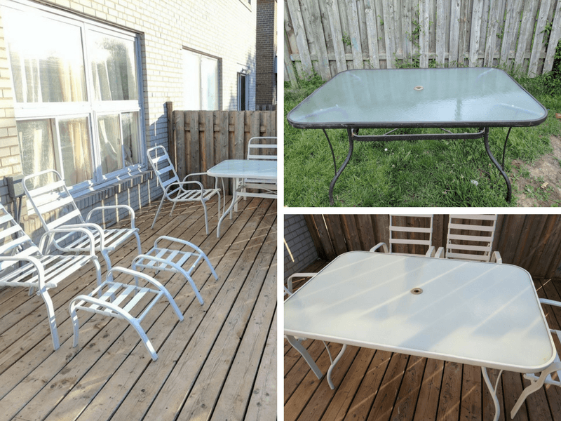 How to Update an Old Patio Set on a Budget & How to Update an Old Patio Set on a Budget u2014 Home With Aneta