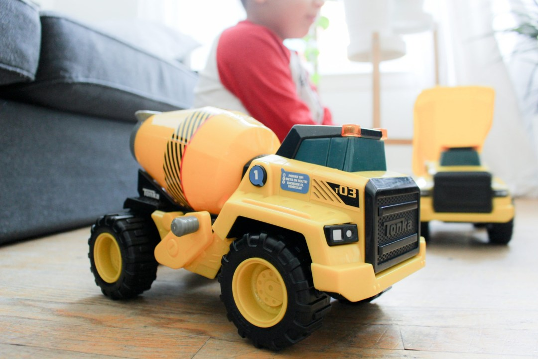 Tonka Power Movers Construction Vehicles #ToyReview