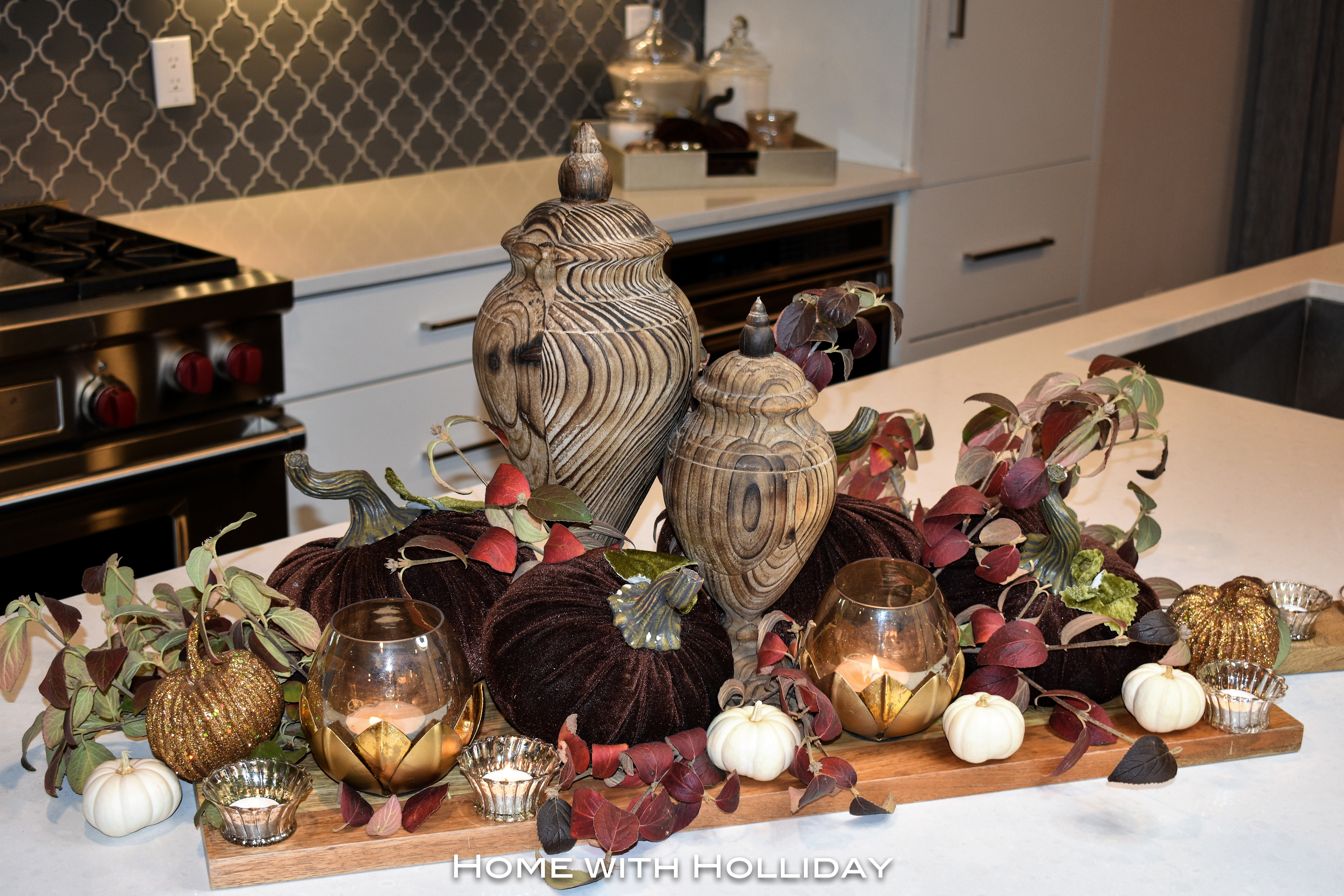 Fall Centerpiece in Fall Kitchen Tour 1