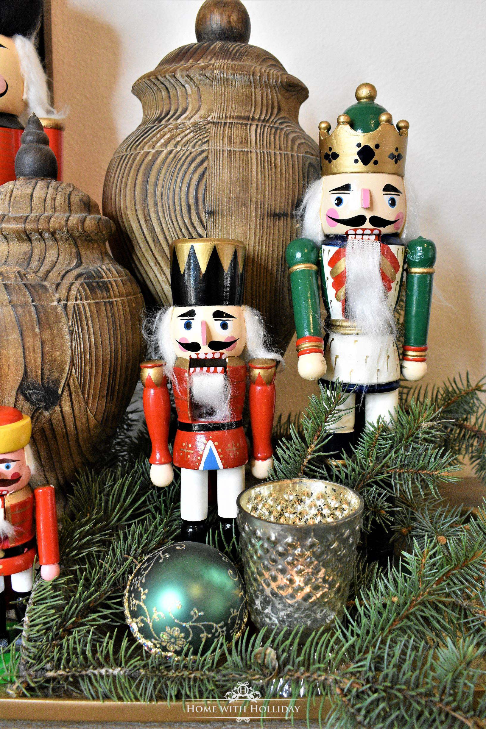 Decorating a Tray for Christmas 6 Ways - Nutcrackers - Home with Holliday