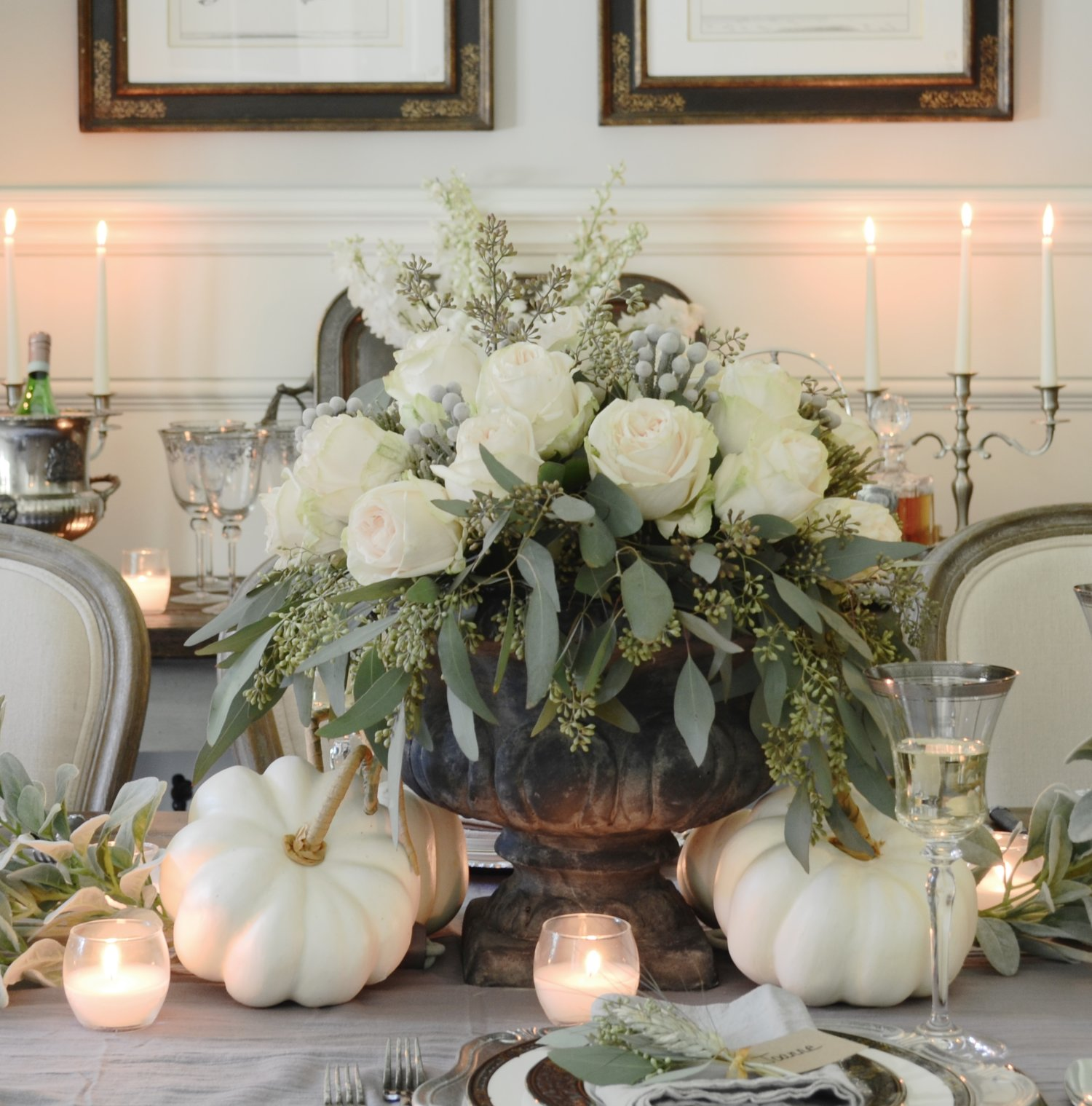 Creative Ideas for Fall or Thanksgiving Table Settings and Home Decor 4