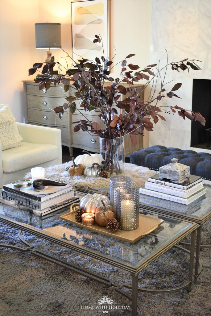 Warm and Cozy Fall Coffee Table Styling - Home with Holliday