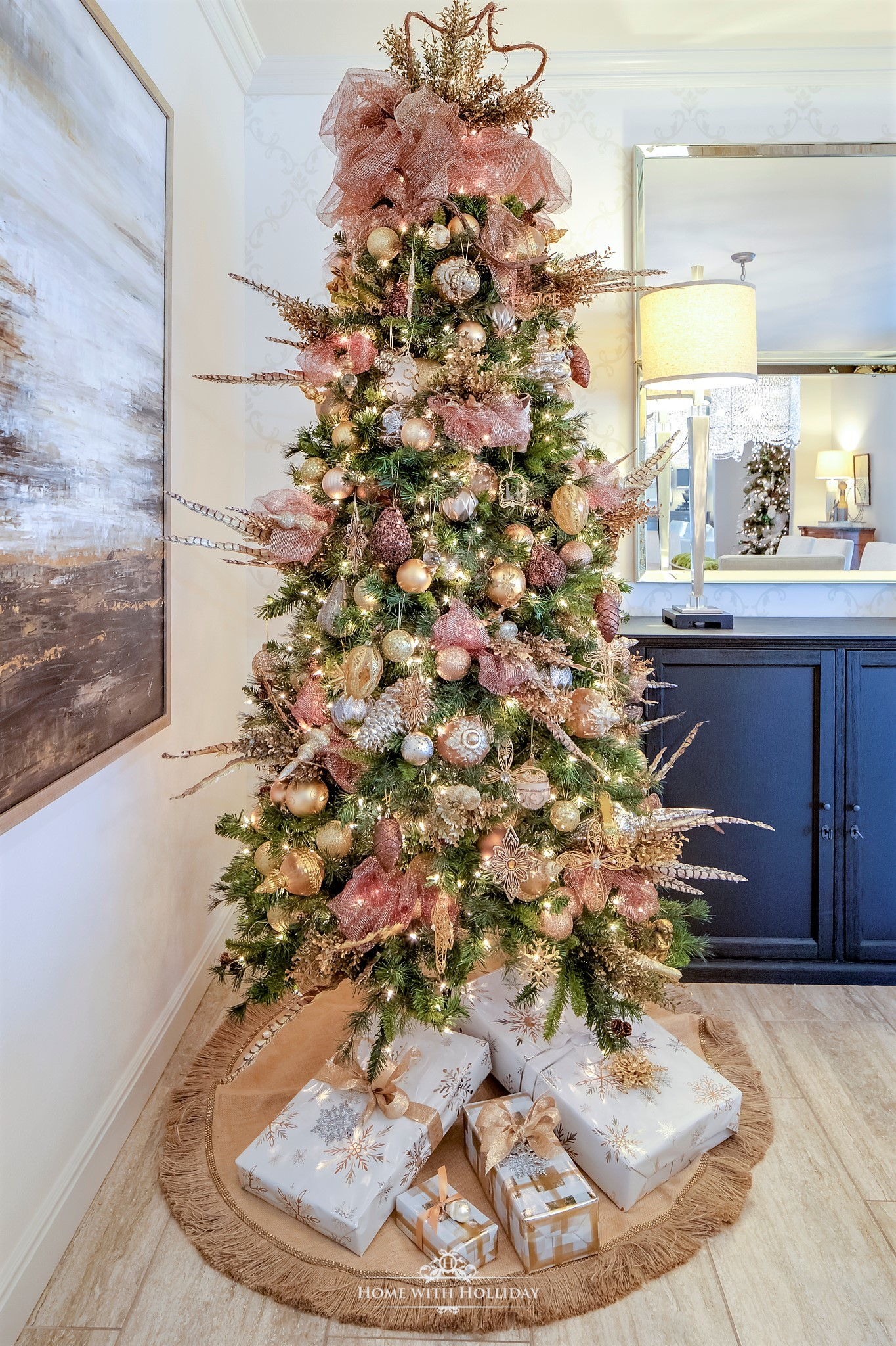 My Christmast Home Tour - Mixed Metallic Christmas Tree - Home with Holliday